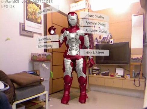 Iron man suit AR