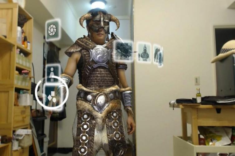 上古5:天際虛擬試衣間 | Skyrim Kinect Virtual Dressingroom